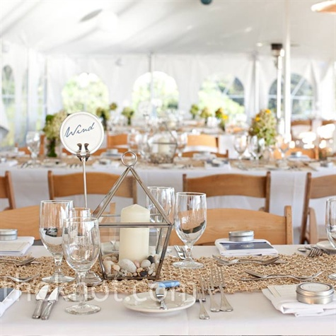 Beachy Reception Decor