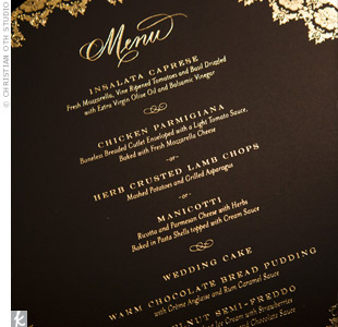 Black and Gold Menus