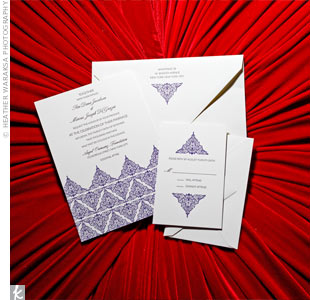 Traditional Henna designs were used throughout the stationery for a consistent theme; however, the subtle pattern remained chic and modern.