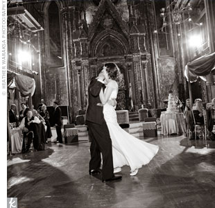 "The couple danced to Frank Sinatra's ""Fly Me to the Moon."""