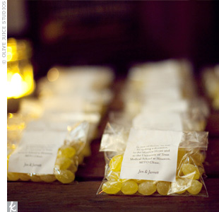 Lemon Drop Wedding Favors