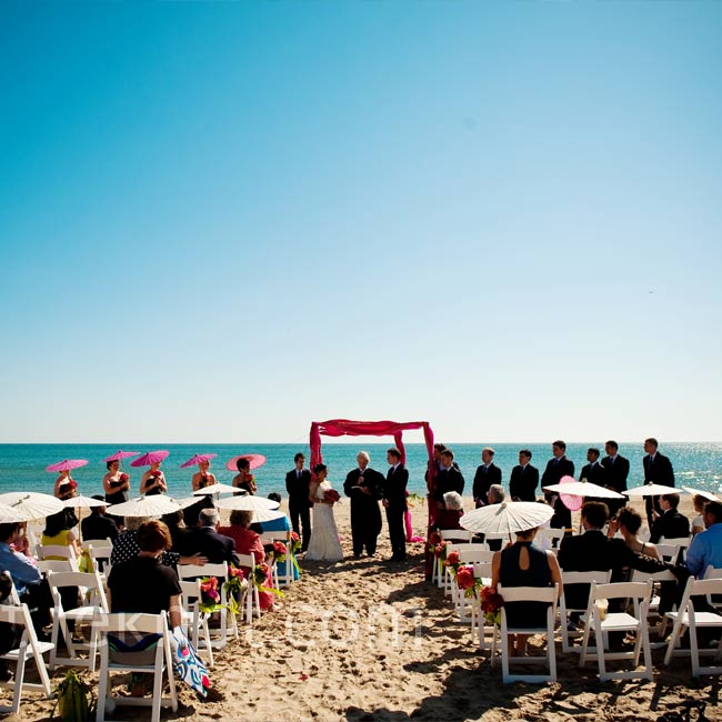 Beach Wedding Ceremony Michigan: The Ceremony Took Place On A Quiet Section Of Loyala Beach