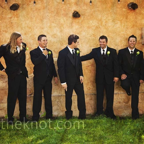 Black Groomsmen Suits