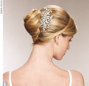 French TwistAdd a touch of sparkle to this structured updo with ...
