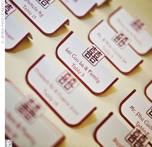 Chinese Symbol Escort Cards