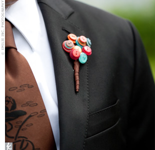 Button Groomsman Boutonniere