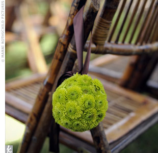 Green Pomander Decor
