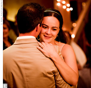 "Mark chose the song ""Luckiest"" by Ben Folds for his first dance with Amber. ""He had said for several years before we got engaged that he wanted that to be our wedding song,"" says the bride."