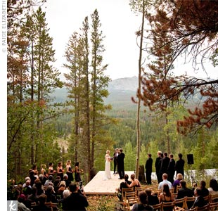 The ceremony spot backed up to The Arapaho National Forest and overlooked Breckenridge Mountain.
