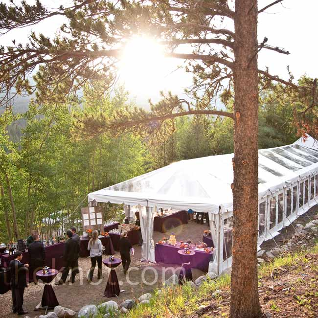 A clear tent allowed guests to enjoy the changing light during 
