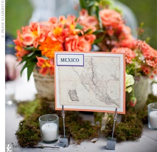 Map table cards corresponded with the geographic seating arrangements.