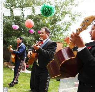 A live mariachi band kept the party going with festive tunes, suited for a Mexican-themed celebration.