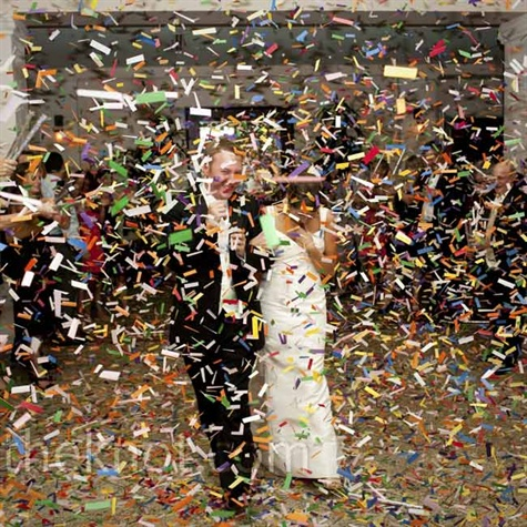 Confetti Reception Exit