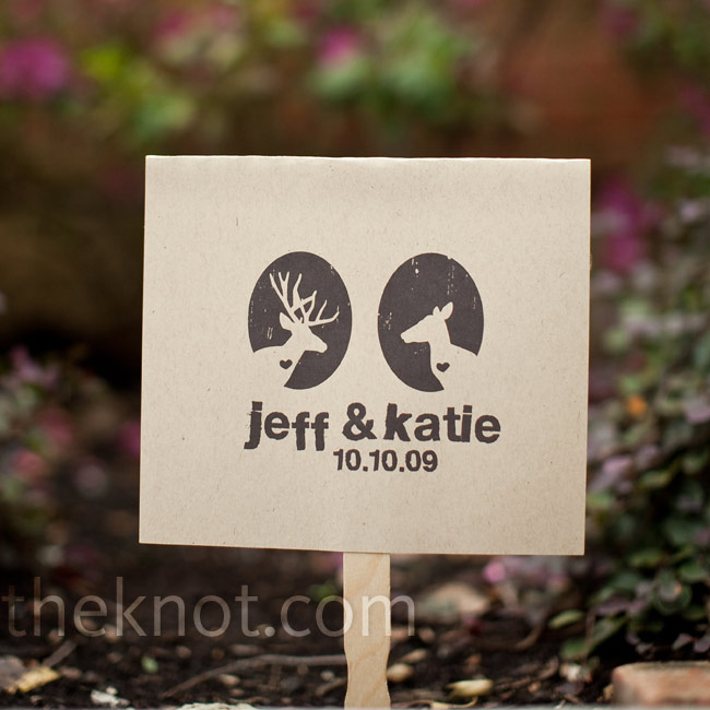 Two of Katie's friends made the ceremony program fans from recycled brown construction paper and Popsicle sticks.