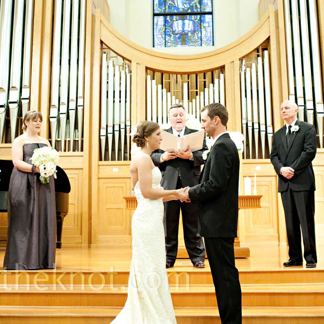 Sarah and Hunter exchanged vows at the seminary chapel on Baylor's campus, where they first met.