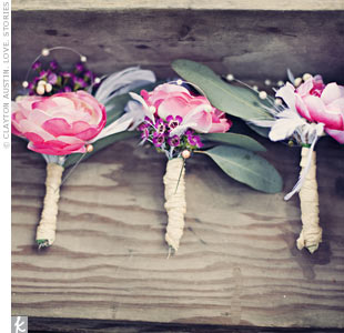 Silk Pink Boutonnieres