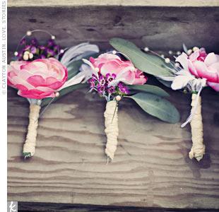 Silk Pink Boutonnieres