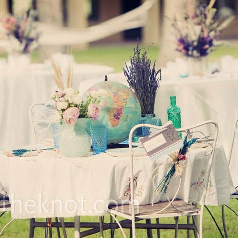 Vintage Head Table Decor
