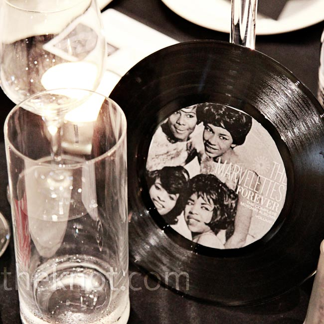 The tables were each named after a Motown group and displayed using 45 records.