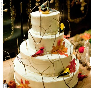 Bird and Twig Cake