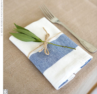 Blue and White Napkins