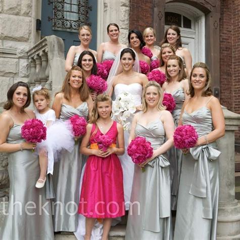 Stunning Silver Bridesmaids Dresses
