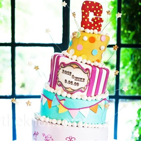 Circus-themed Wedding Cake