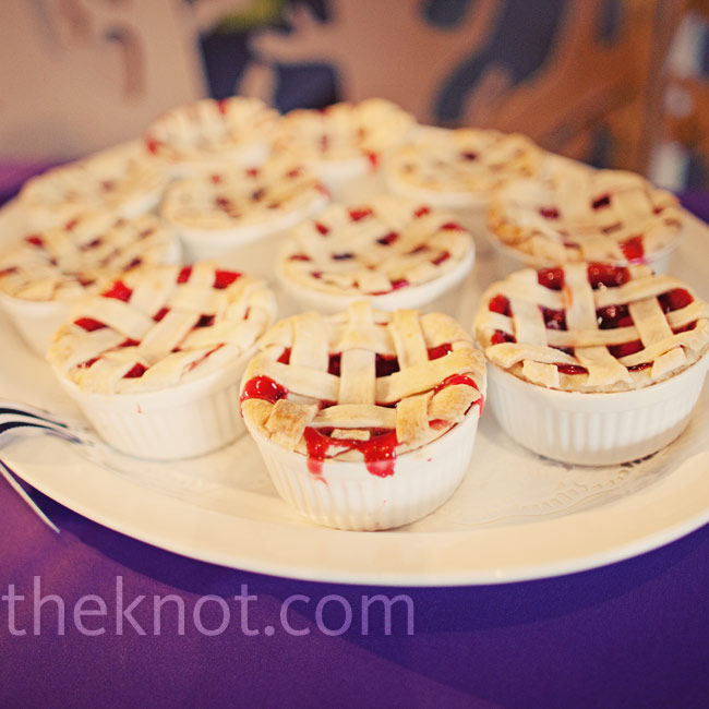 In addition to the cake, dessert included specialties of Megan and Craig's family members, such as his stepdad's individual cherry pies.