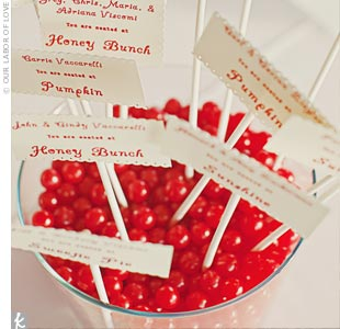 Edible Escort Card Display