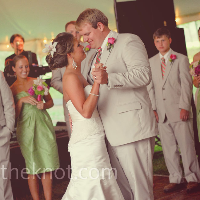 "Brooke and Brett shared their first dance to ""Crazy Love"" by Van Morrison and Ray Charles."