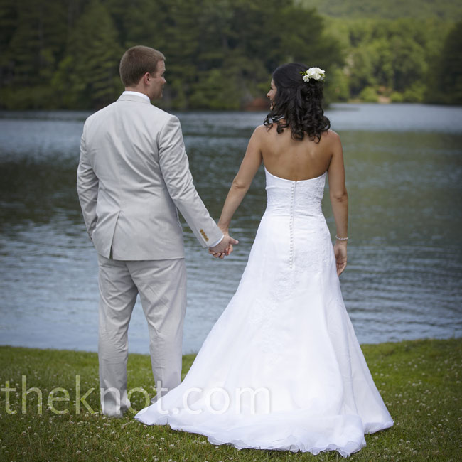 Jill and Kevin were married by Lake Tamarack where the groom's parents own a cabin.