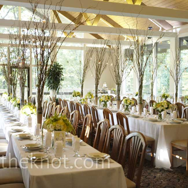 traditional wedding reception decor, reception