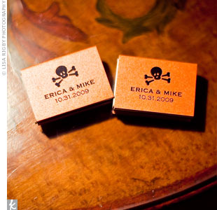 Hand-rolled cigars and matches, wrapped with vintage skull and crossbone labels, were set out on the patio after dinner.