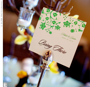 Green Printed Table Numbers