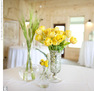 Simple Yellow Centerpieces