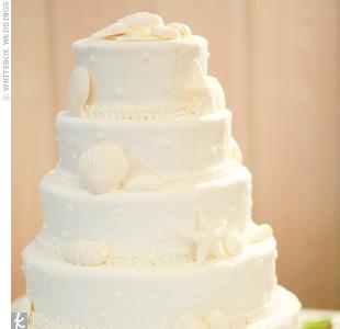 White Seashell Cake