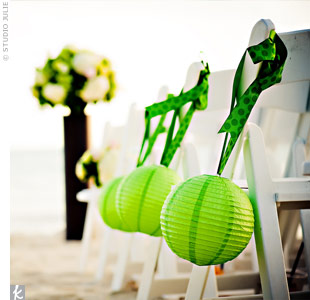 Green Aisle Decorations