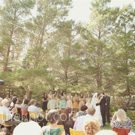 Outdoor Backyard Ceremony