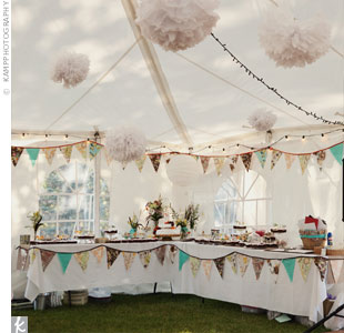 Vintage Tented Reception