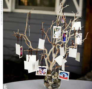 Many family members were unable to make it to the wedding, so Neddy created a family tree in their honor.