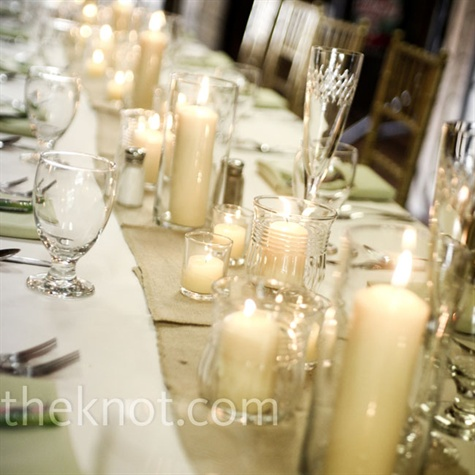 Candle Reception Decor