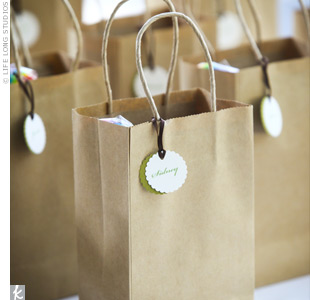 To help the parents keep their kids entertained, Neddy made special goody bags for the younger guests. She filled brown bags with glow-in-the-dark necklaces, hand sanitizers (for post-petting zoo clean up) and other fun surprises.
