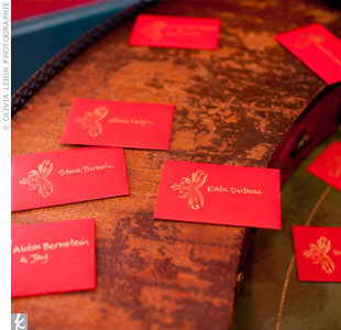 Red Escort Cards