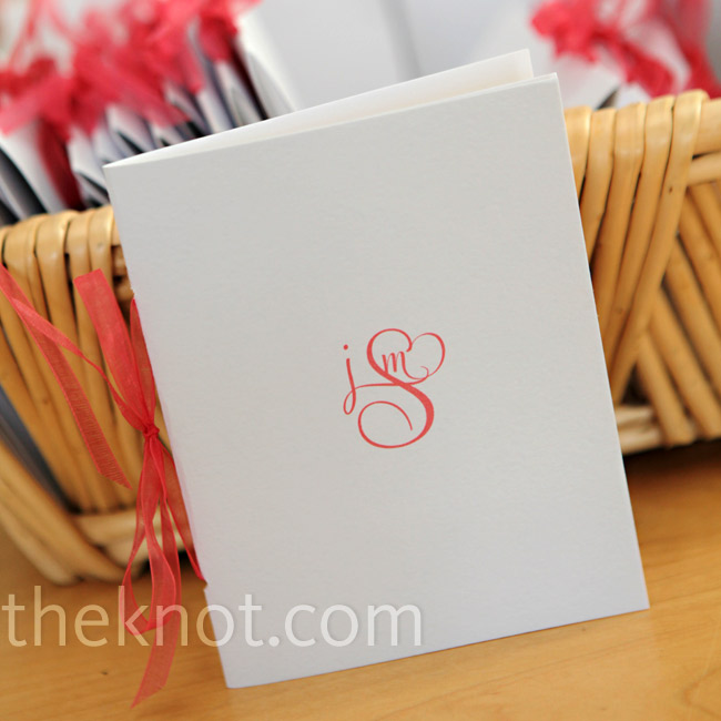 Jen designed a custom monogram for the couple's stationer to print on the ceremony programs.