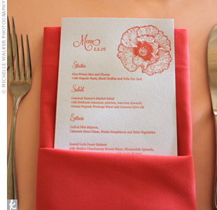 Poppy Menu Cards