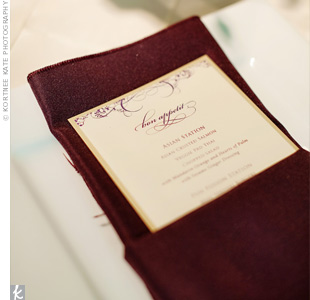 Purple and Ivory Menus