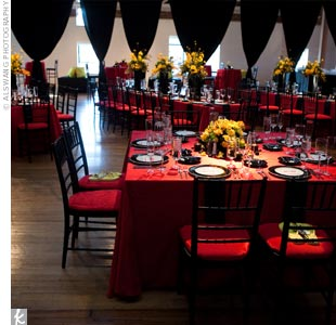 Modern Red and Black Reception