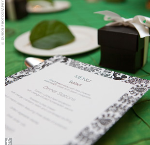 Damask Menu Cards