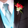 Red Freesia Boutonniere