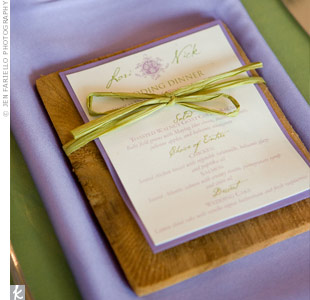 Vineyard Menu Cards